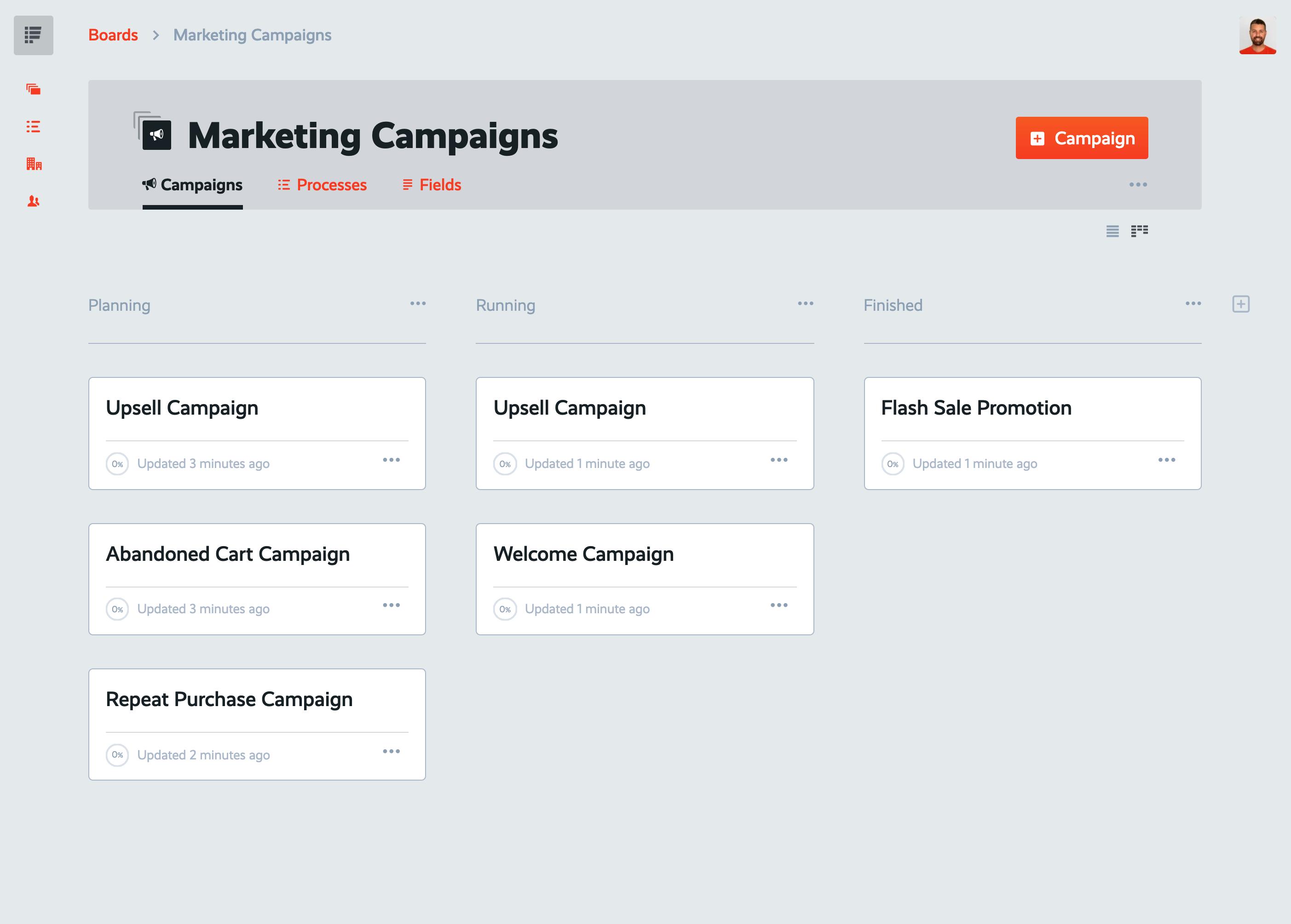 new marketing campaigns board