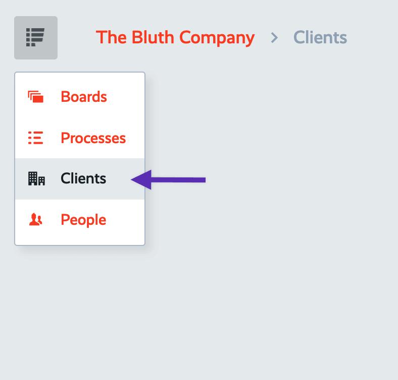 clients navigation