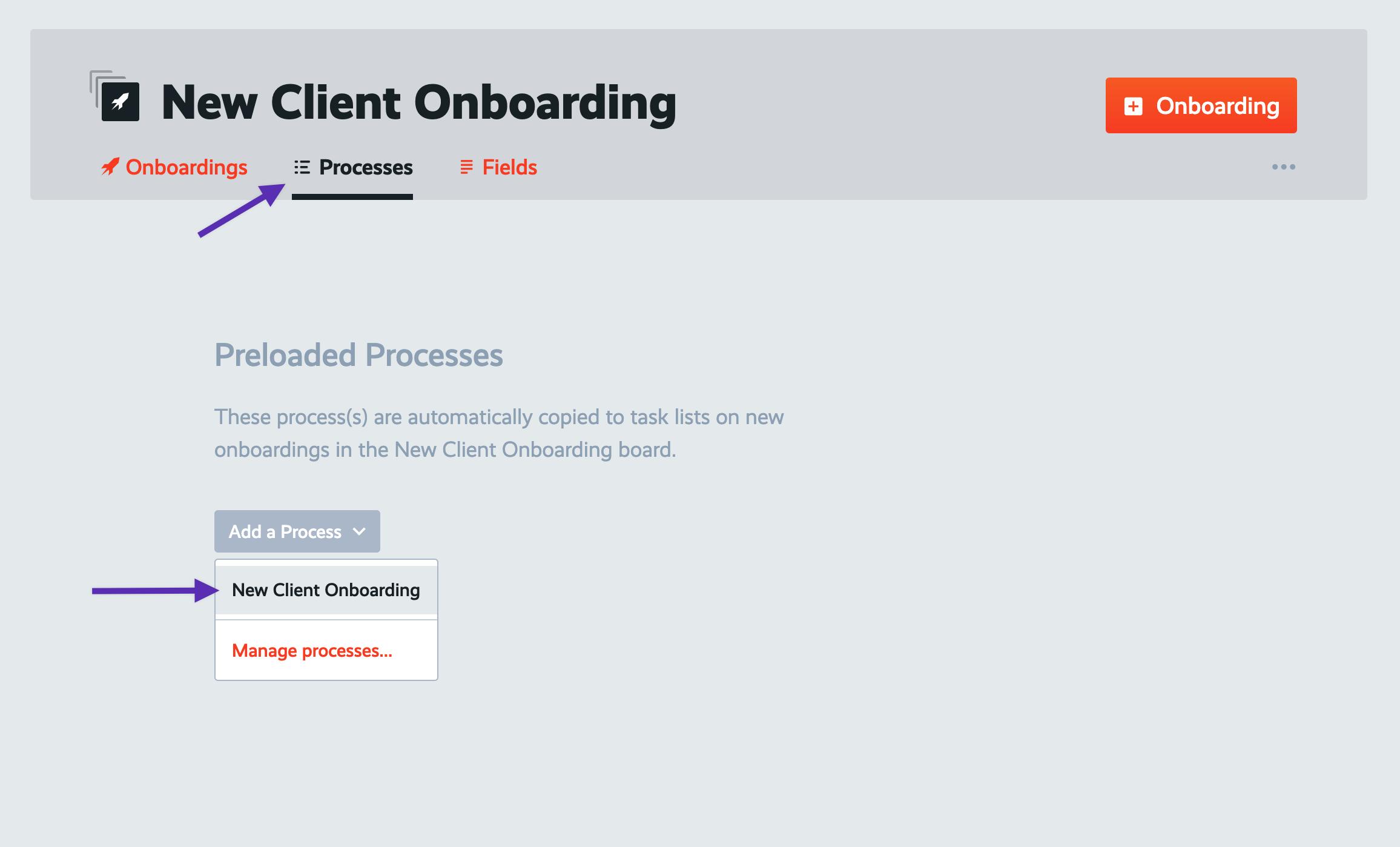 board pre load processes