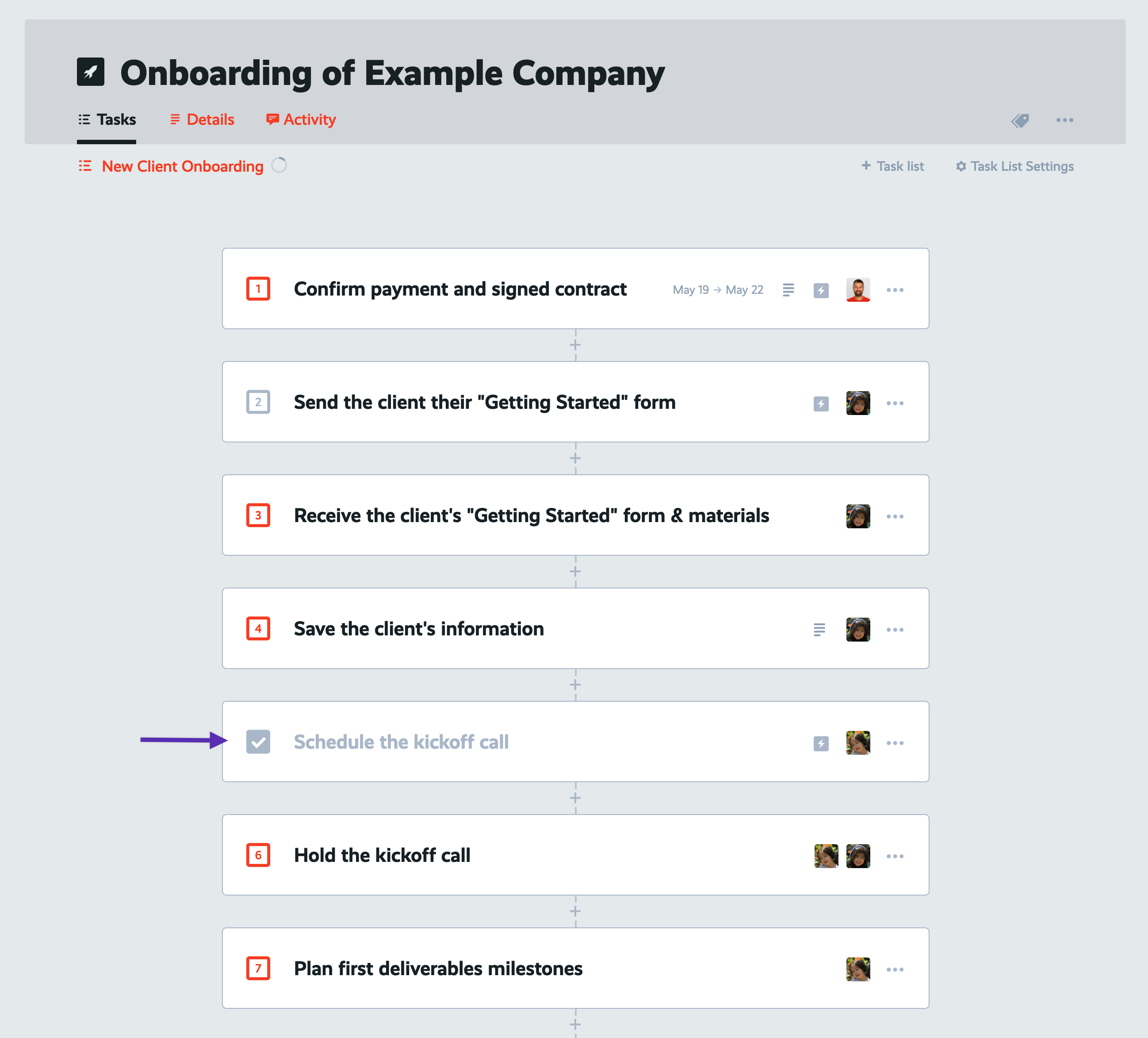 zapier completed task