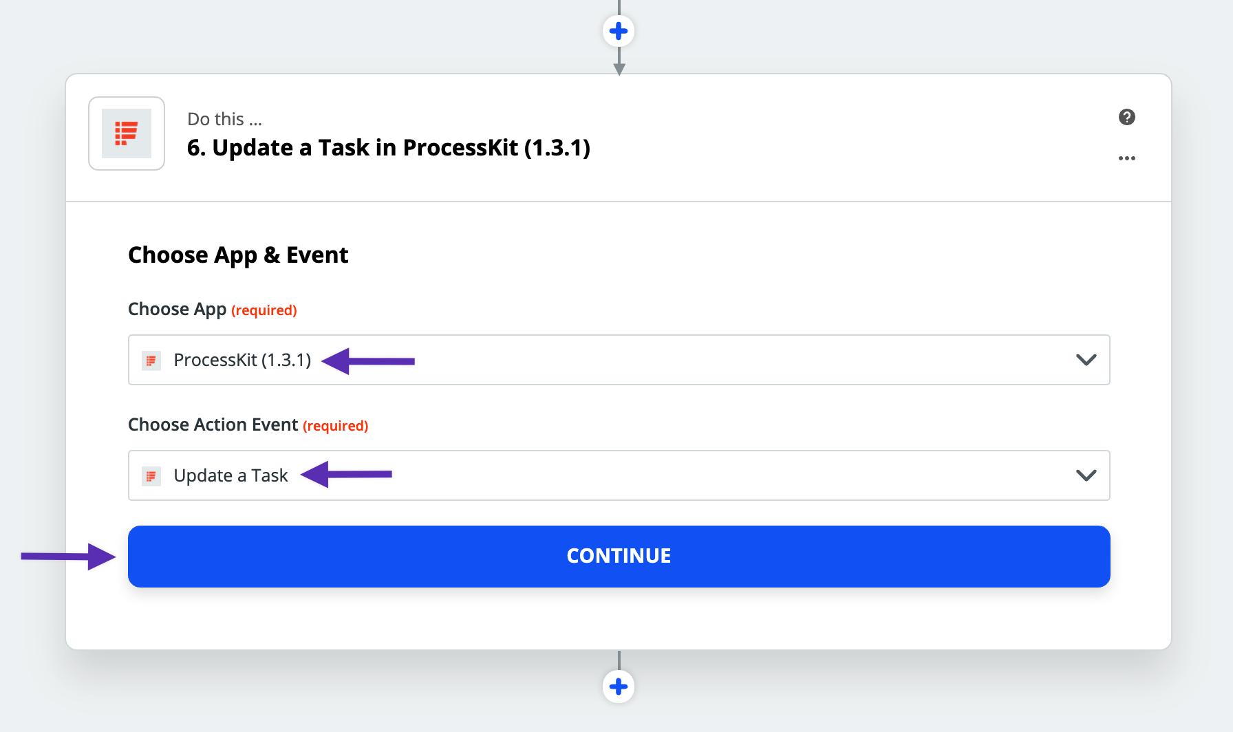 update task zap